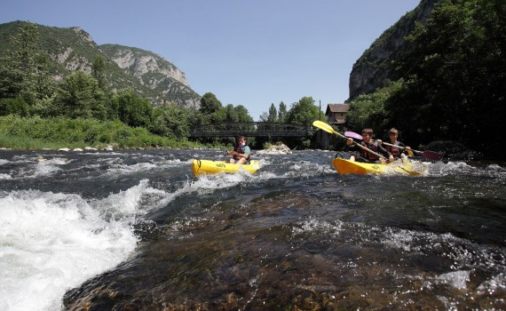 Rental canoes and kayaks on the Ariege