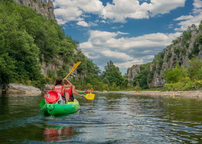 Location de canoe kayak en Ardeche sur le Chassezac