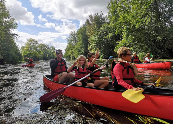 Canoe en famille sur la Vienne