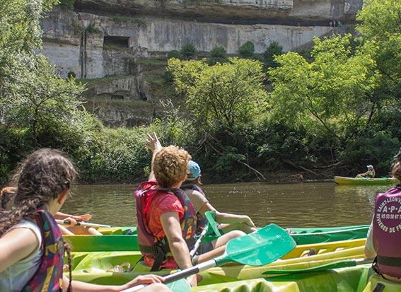La Roque St Christophe Vezere en canoe kayak