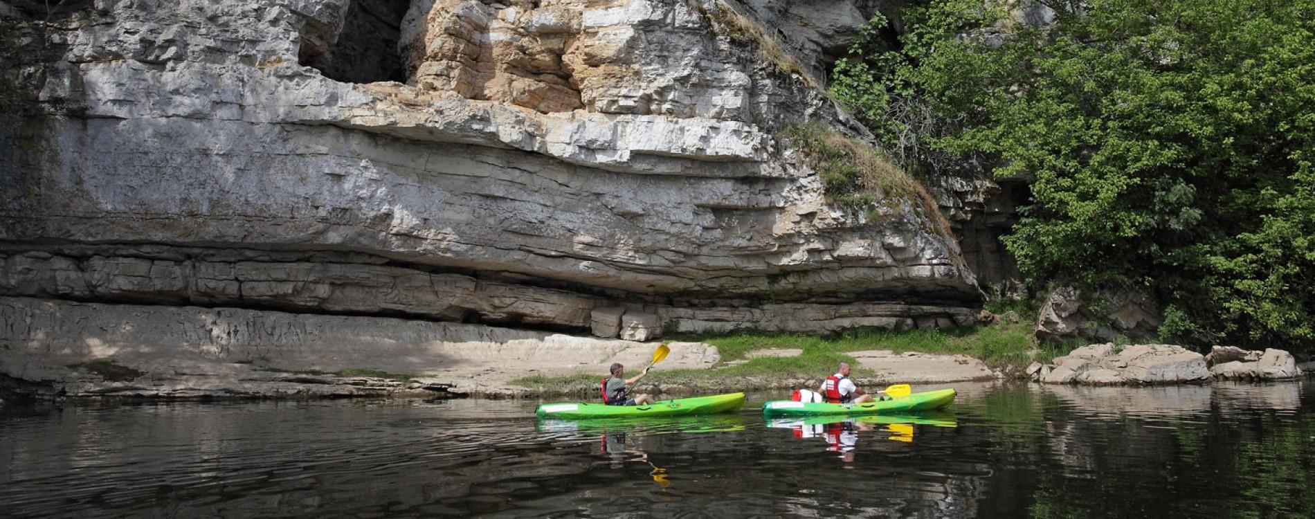 Descente en kayak sur la Dordogne