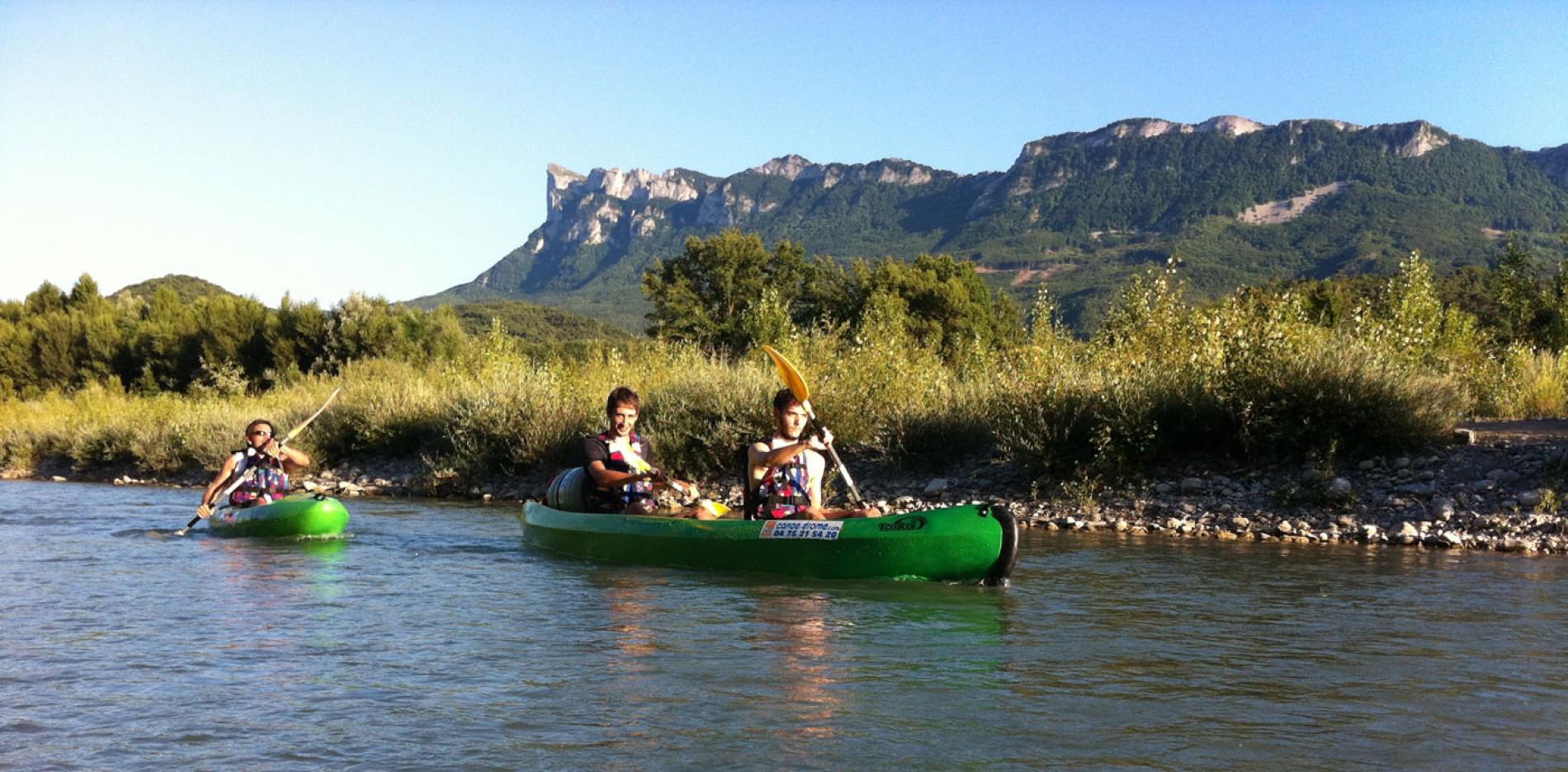 Descente en canoë sur la Drôme