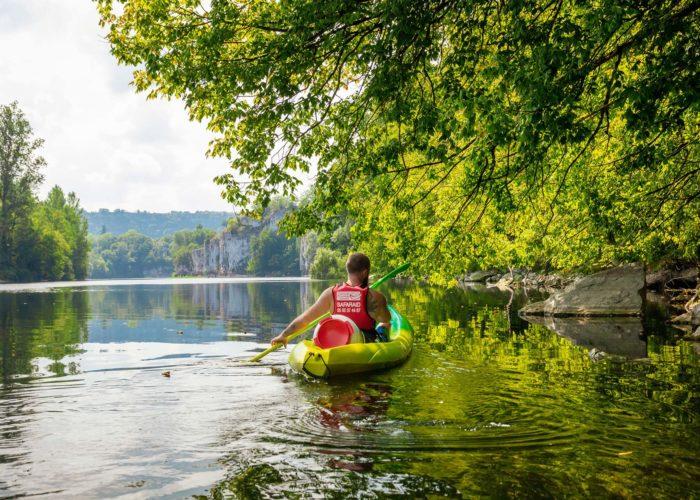 En canoe de Vayrac à Pinsac sur le Dordogne