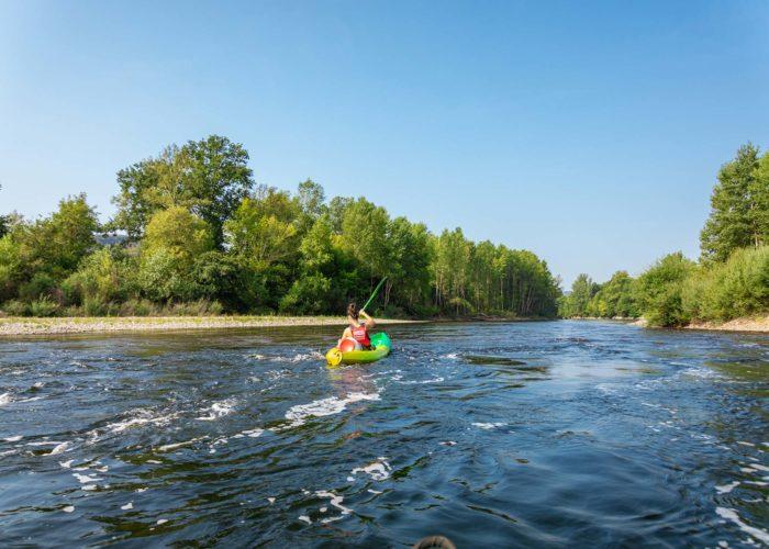En kayak de Vayrac à Souillac sur la Dordogne
