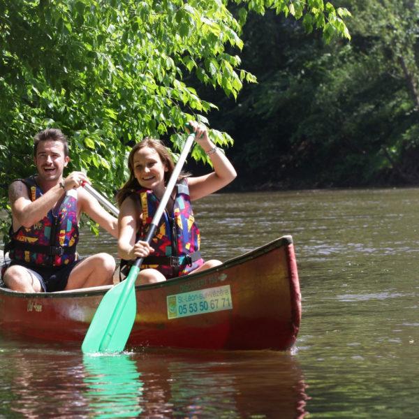 Location de canoe double sur la vezere